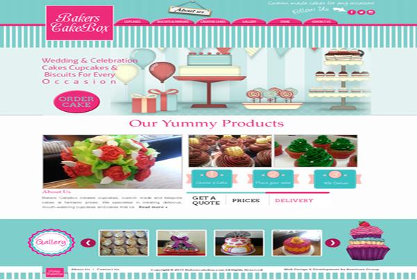 Bakers Cake Box Website
