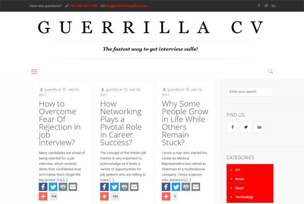 Guerrilla CV